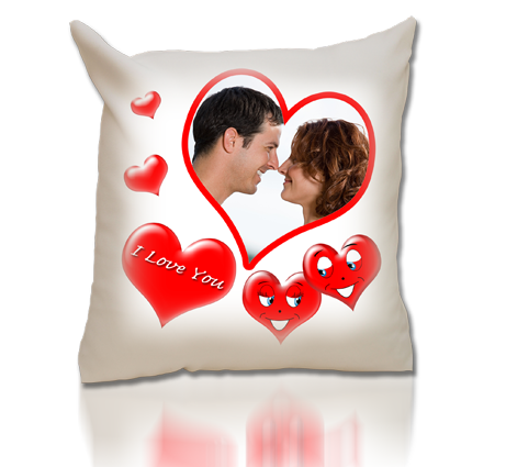 "coussin ""I love you"""