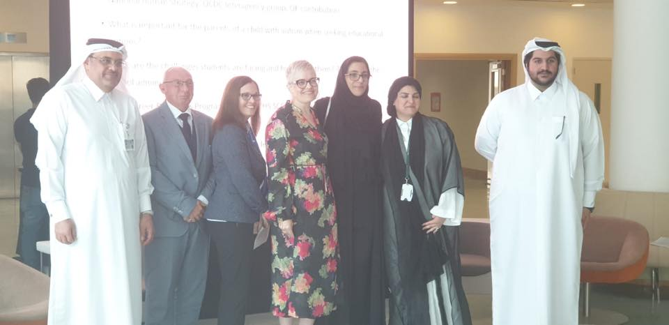 Qatar Foundation hosted an awareness discussion around autism, the National Autism Strategy, QCDC Interagency group for transitioning of students from education to adulthood.