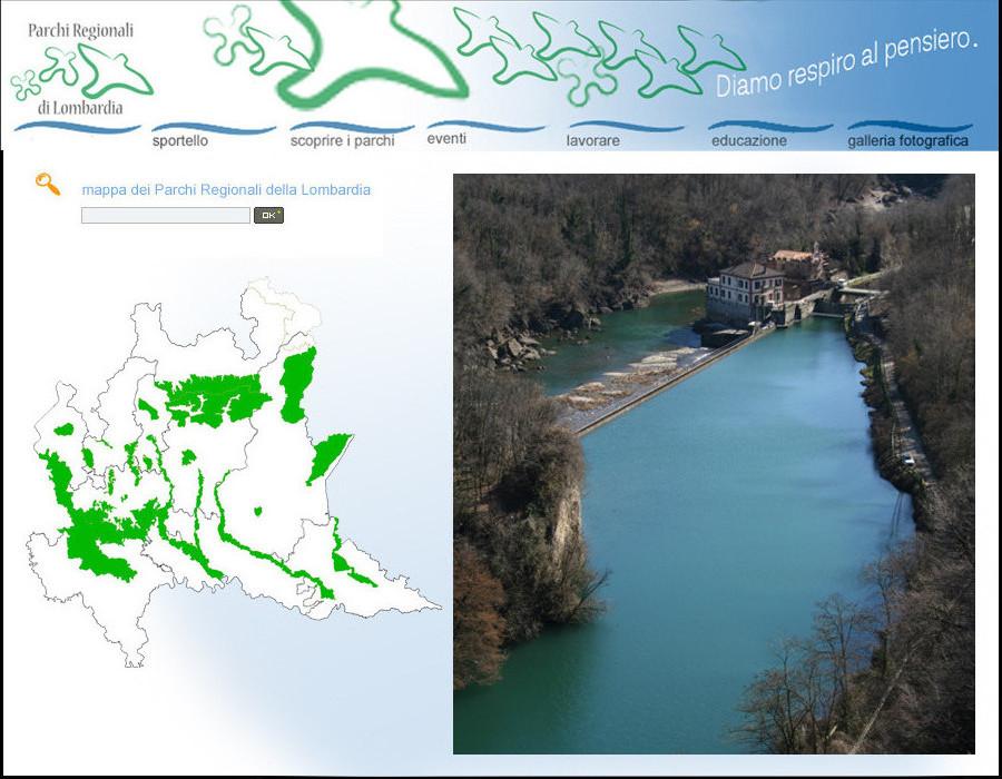 Home page del sito web.