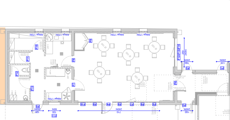 Plan du futur restaurant scolaire