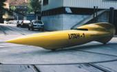 """1989 Rekord-Fahrrad """"Utah-1"""" für die Weltrekordfahrten auf dem Salzsee"""