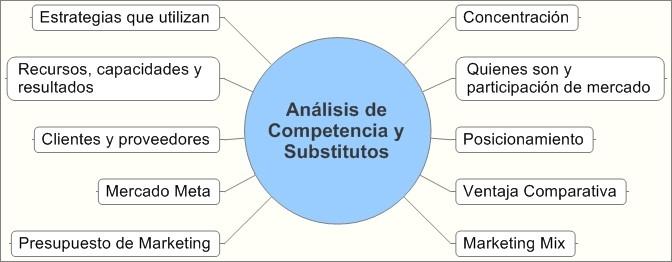 Análisis competidores y substitutos