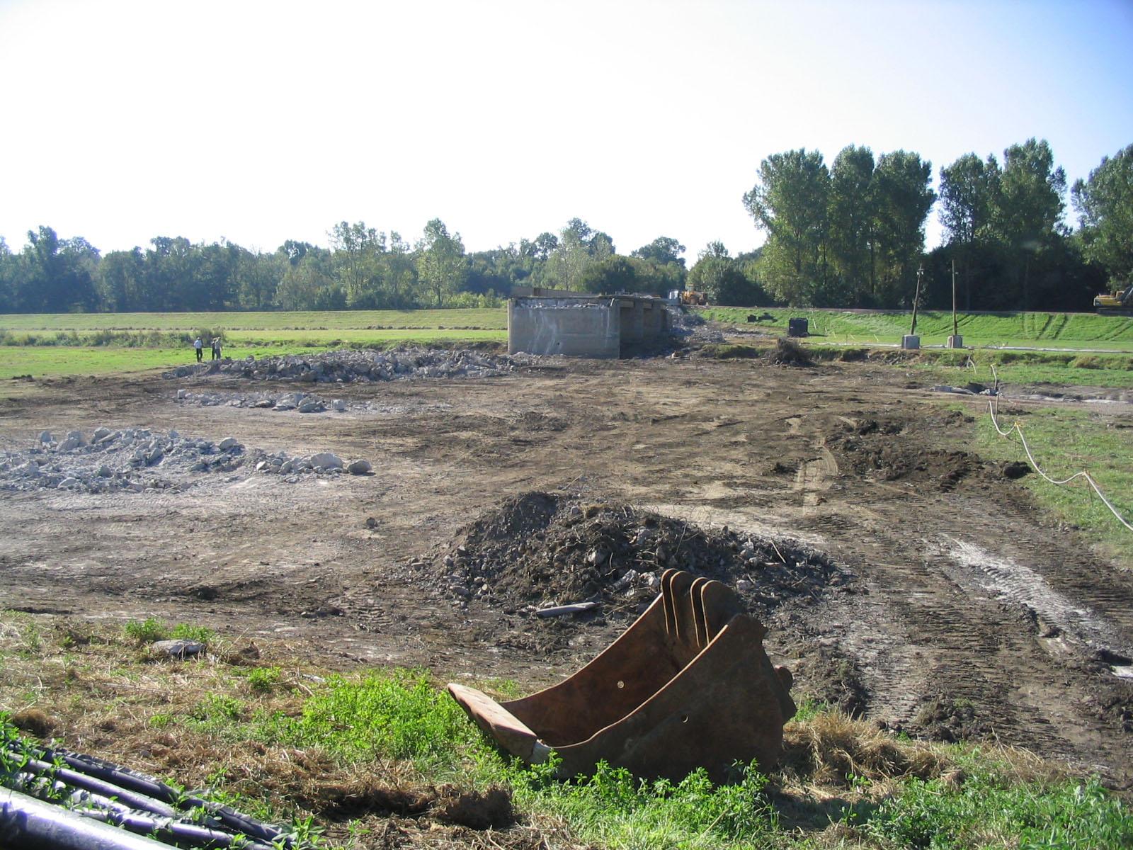 25.09.2006 - Die alte Brücke wird abgerissen