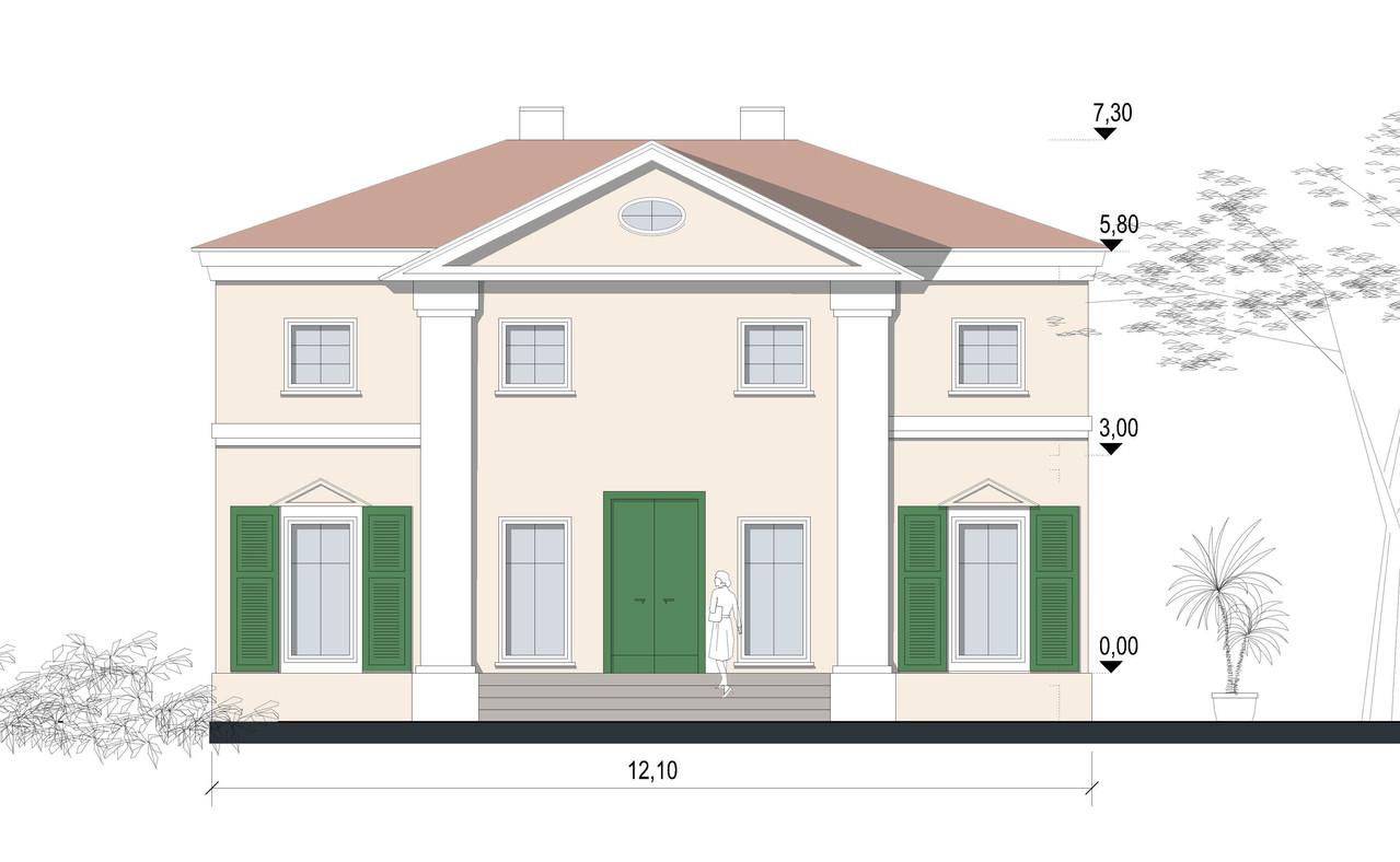 Klassische villa nfischer architektur for Grundrisse villa neubau