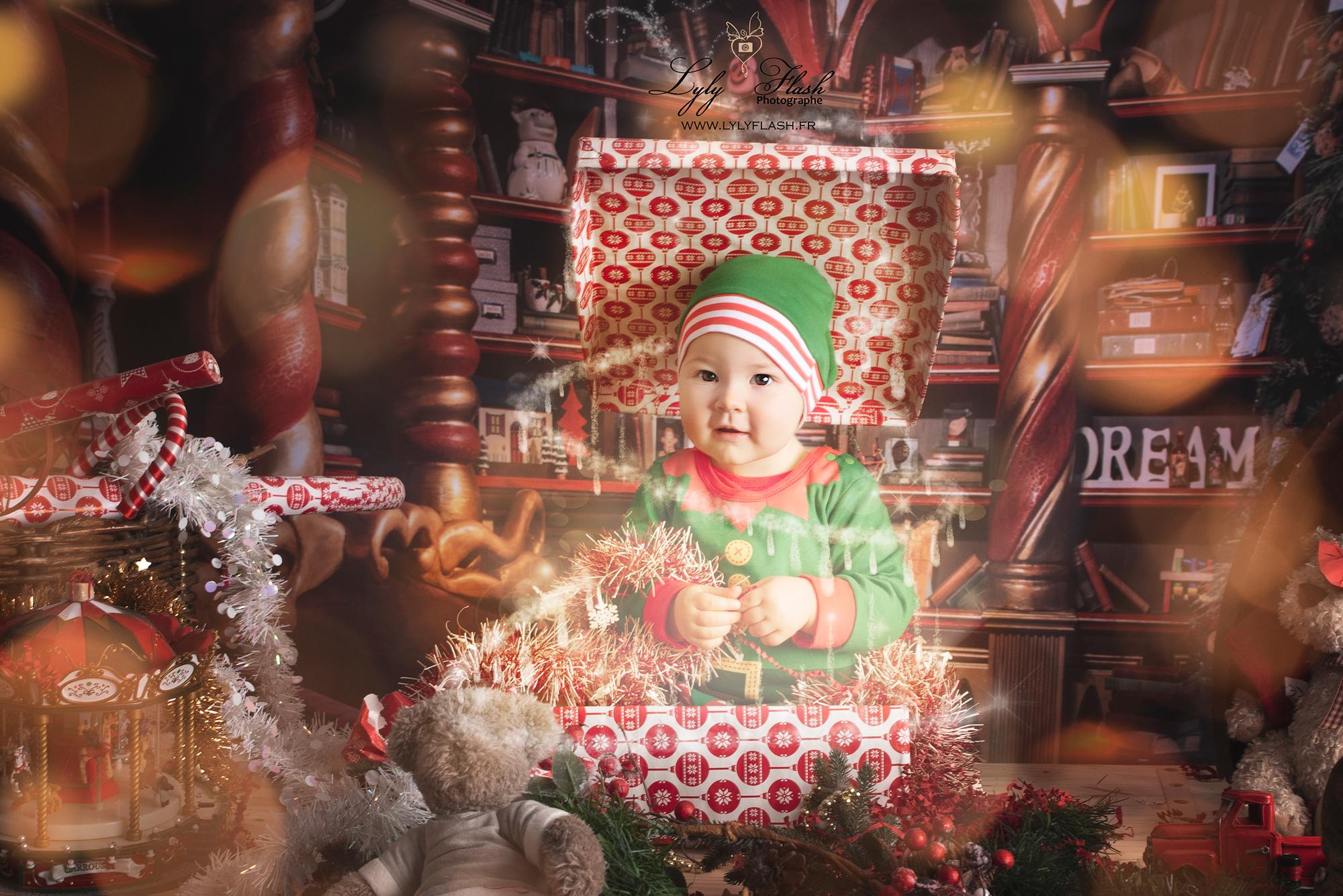 Un décor magique et féerique pour noël. Studio photo lyly flash et le christmas addict