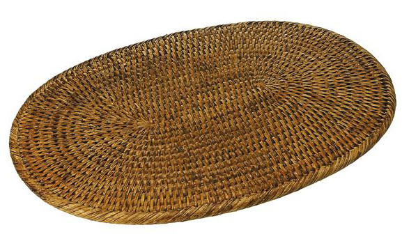 0106 Rattan  Large Oval Mat 44x30