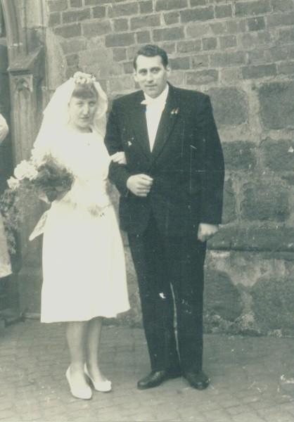 Hochzeit mit Karin Lindner am 24.03.1962.
