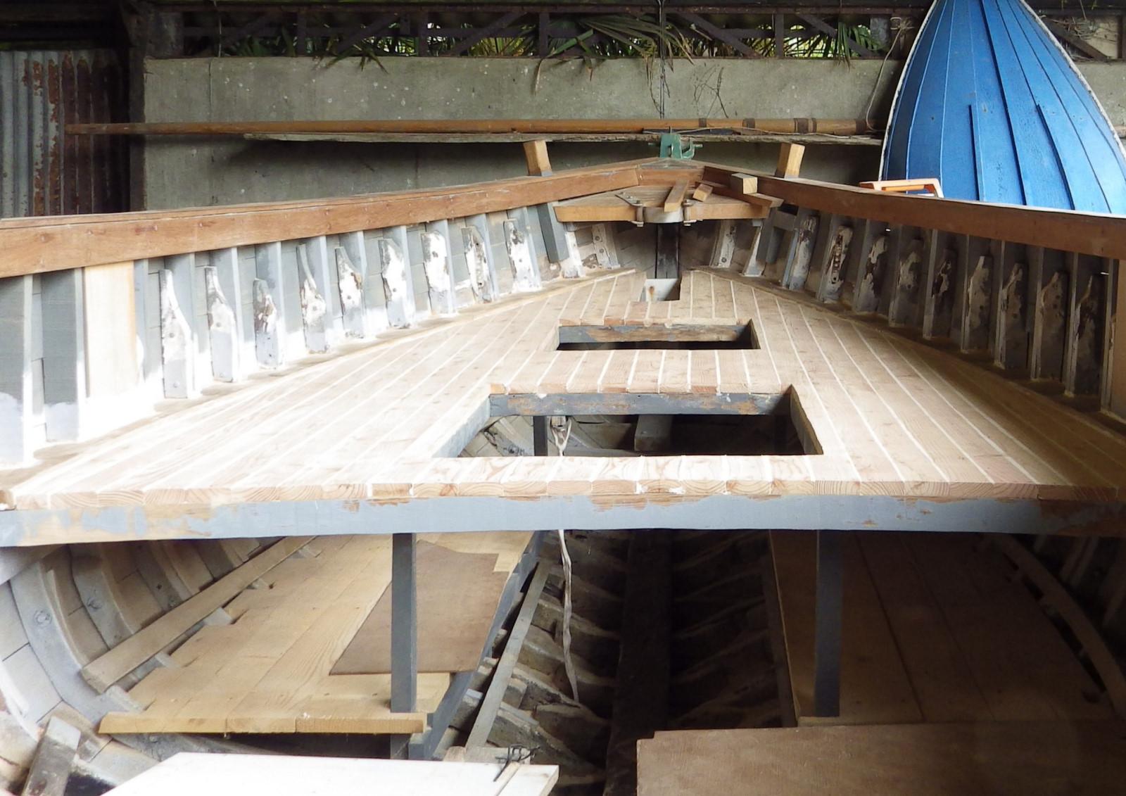 Le pont après l'aspiration des poussières