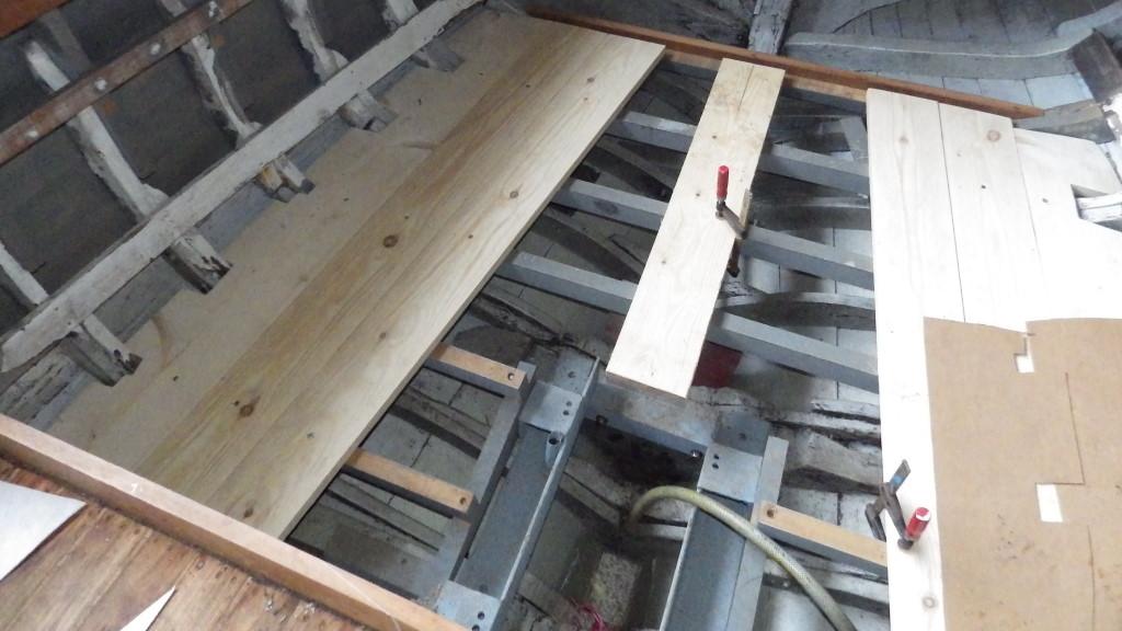 Plancher du cokpit
