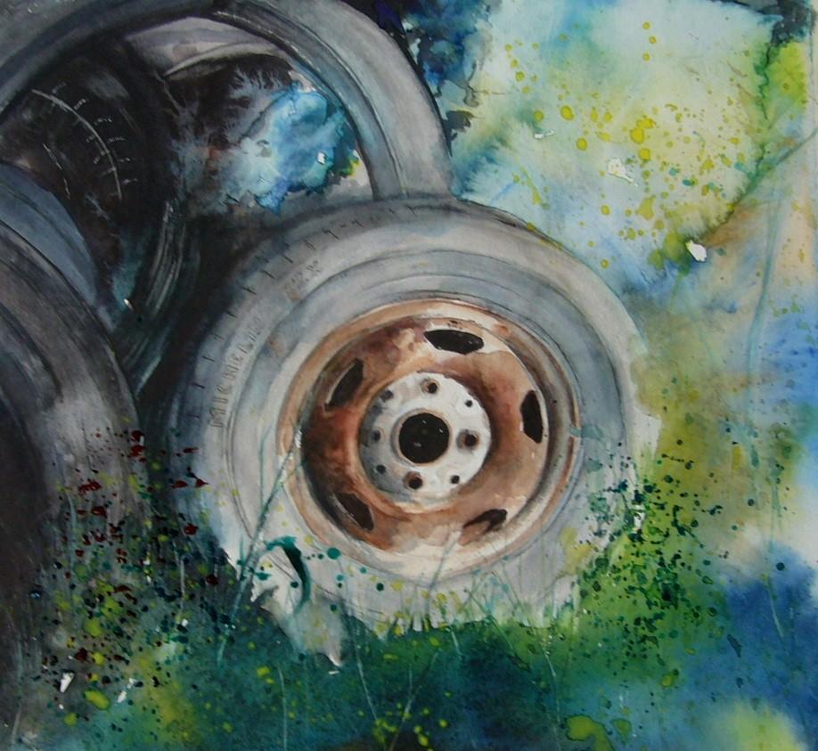 Vieux pneus 56x56