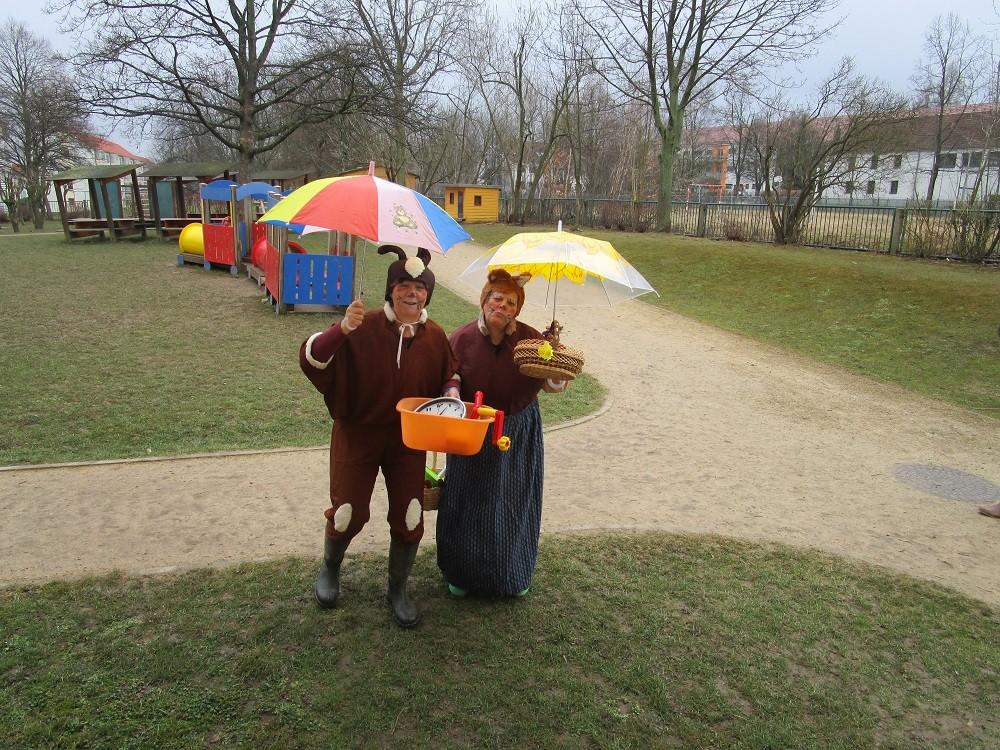 Herr Mümmelmann und seine Frau sind zu Besuch