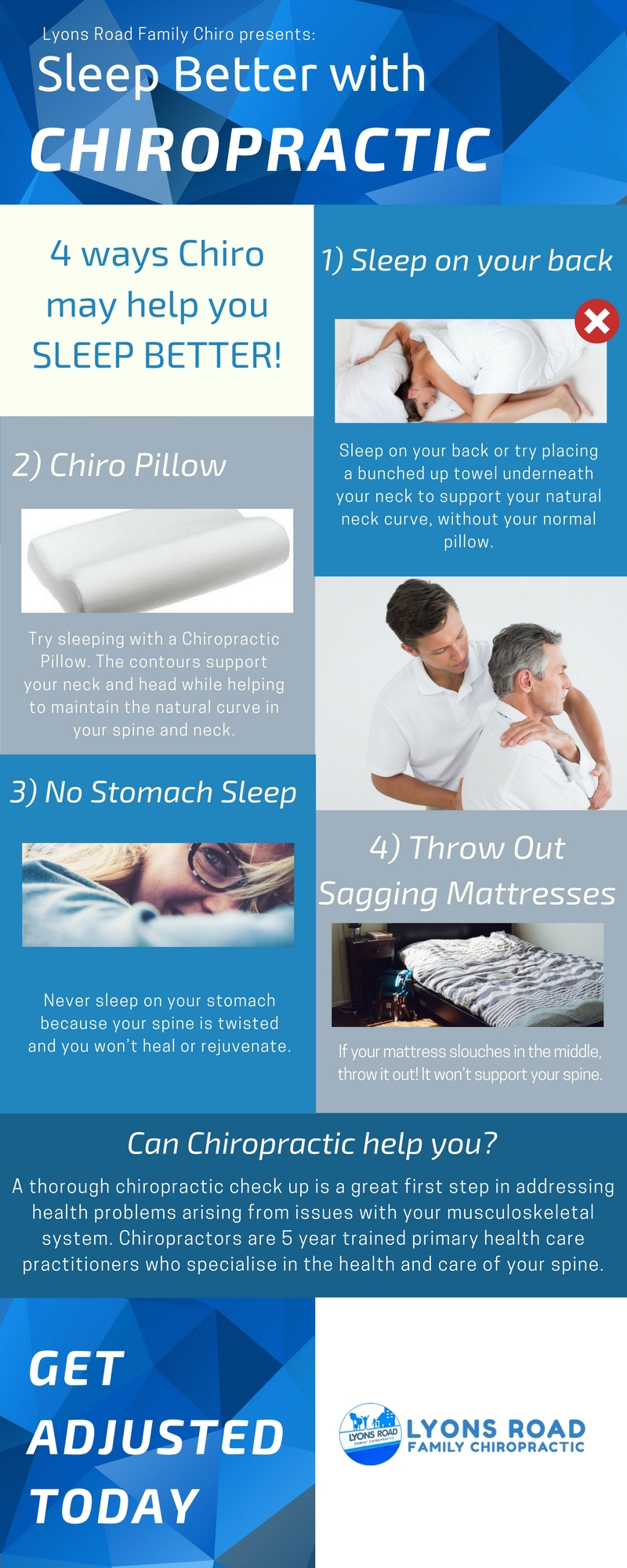 chiropractic sleep infographic