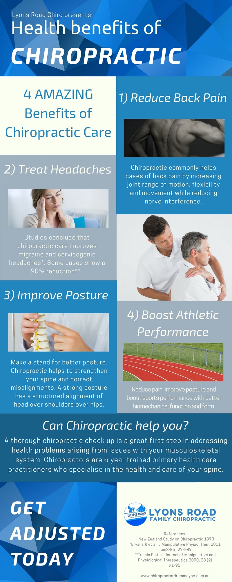 health benefits of chiropractic infographic