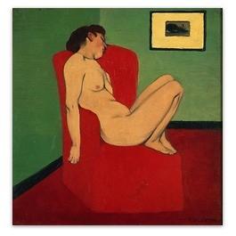 Femme nue asssise dans un fauteuil  Musée de grenoble