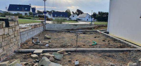 allée béton désactivé le pouldu Finistère