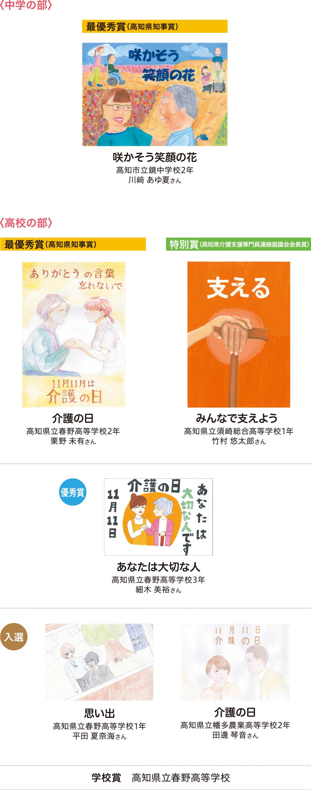 作文作品発表・学校賞発表