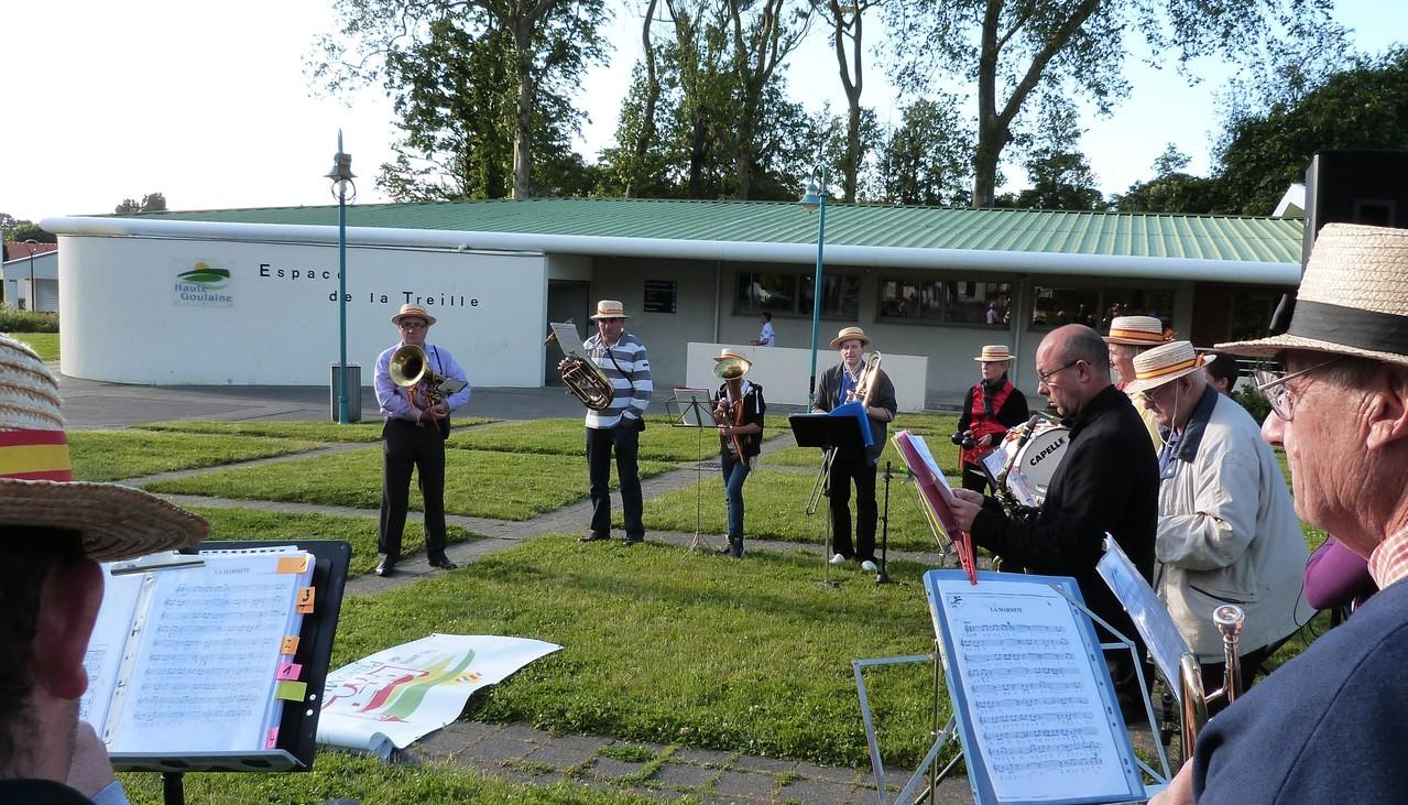 1er passage, 20h30 la Banda ouvre la Fête de la Musique