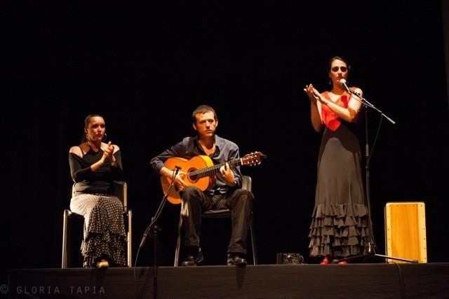 Photo Gloria Tapia / Sandrine Allano, Alberto Castro et Helena Cueto