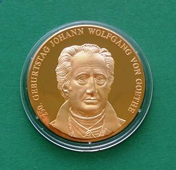 """Medaille """"250. Geburtstag Johann Wolfgang von Goethe"""""""