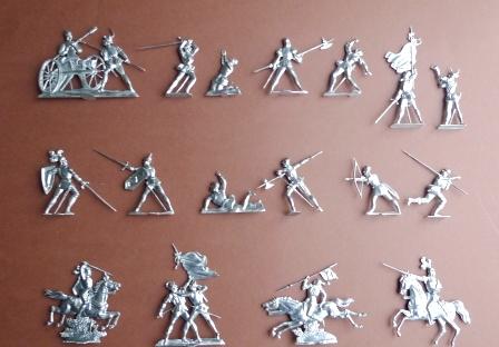 Figurentypen für Gießformen