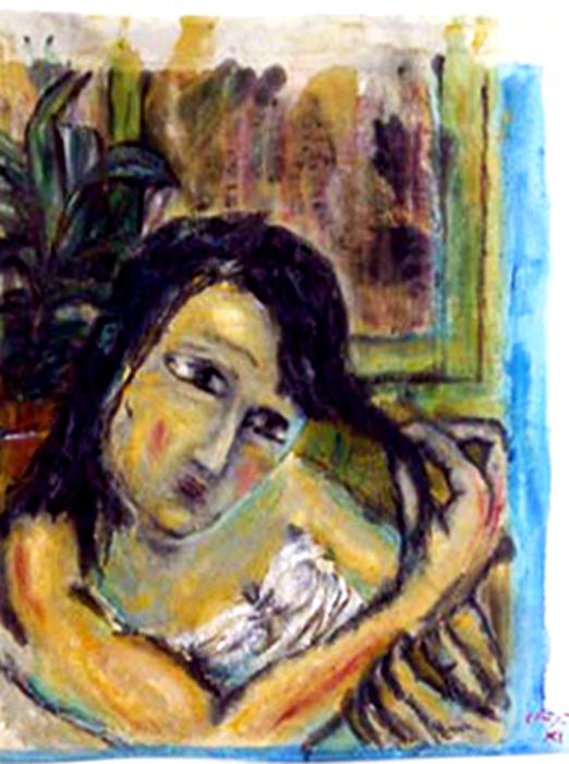 """Série Carmen """"Alis"""" Acrylique sur drap 2010"""