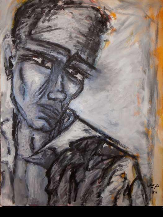 série P comme Peintre Acrylique sur toile
