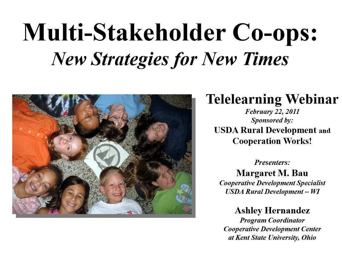 Multi Stakeholder Coops