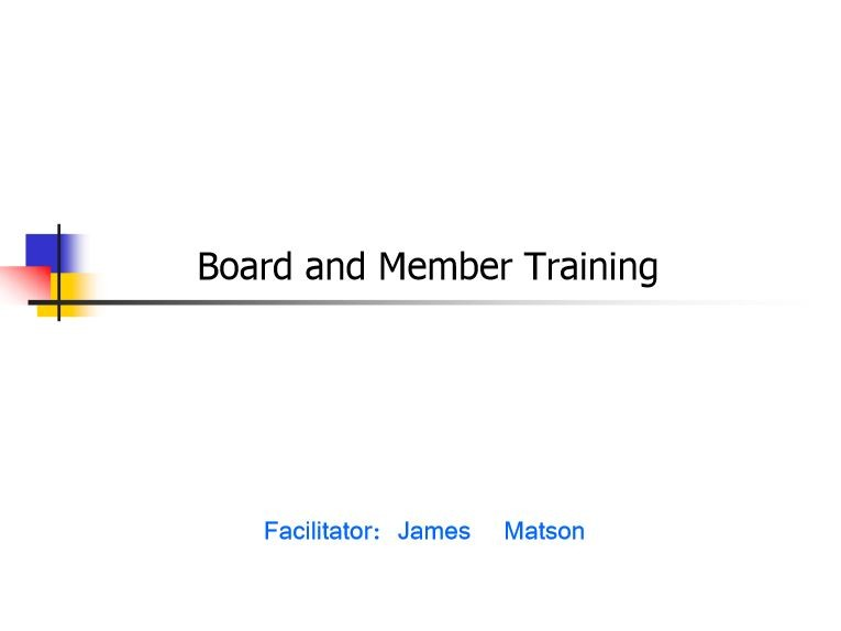 Board and Member Training