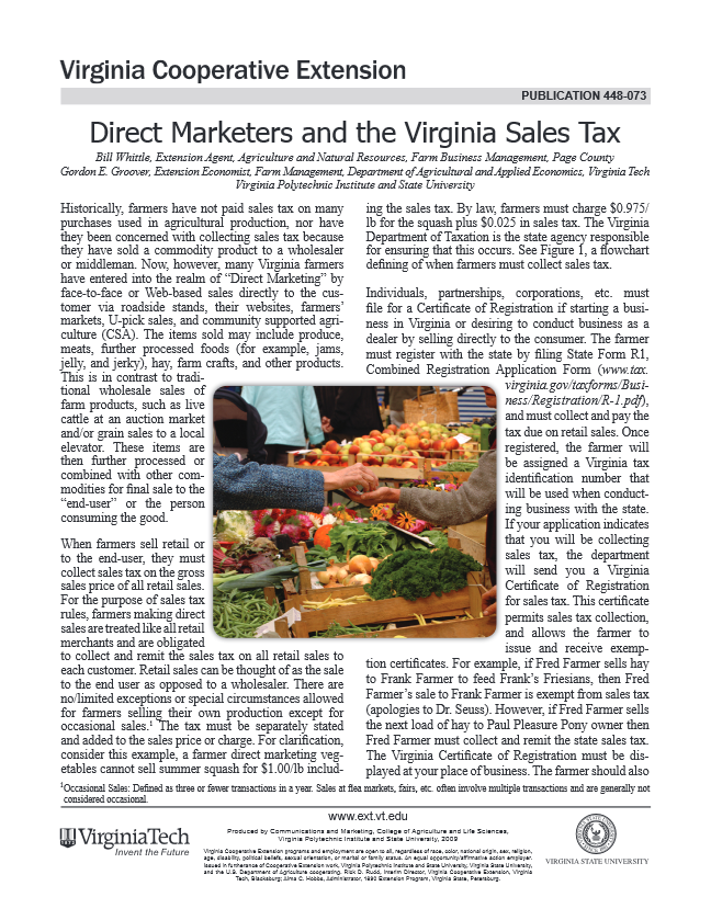 Direct Marketers and the Virginia Sales Tax