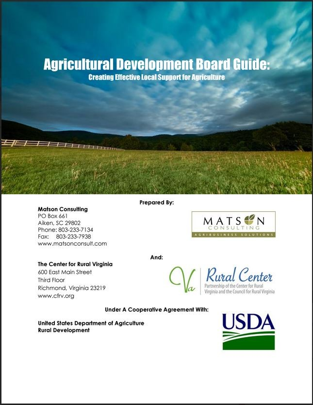 Agricultural Development Board Guide: Creating Effective Local Support for Agriculture