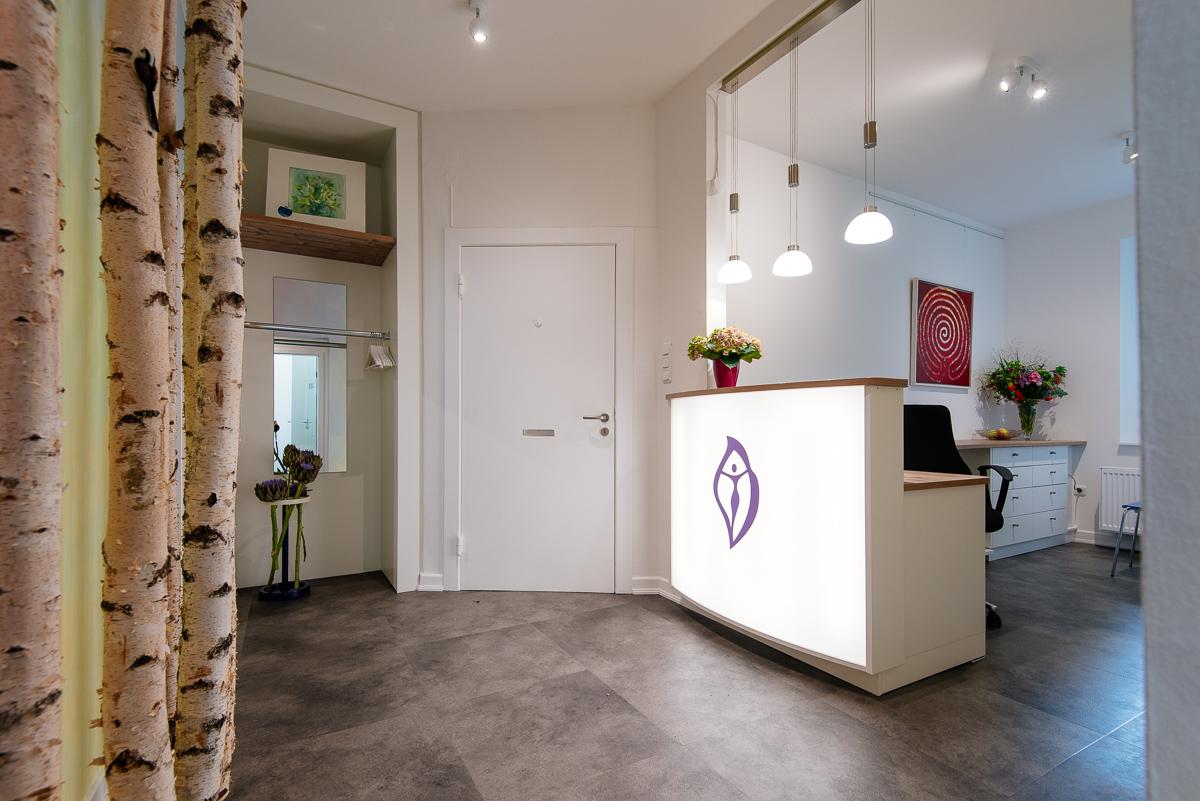 Der Eingangsbereich unserer Frauenarztpraxis