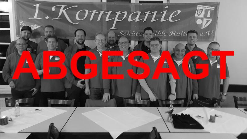 1. Kompanie sagt Jahreshauptversammlung ab