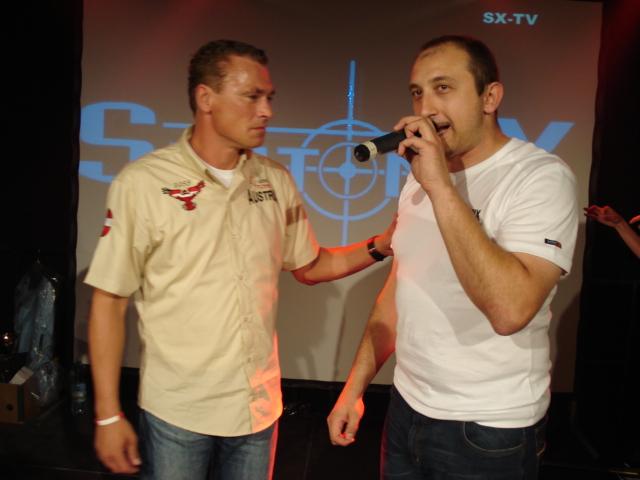 Toni Polster und DJ Tomix