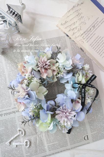 Light blue Wreath(S) 20cm ¥5,000(税込) (M)24cm¥6,000+税 (¥6,600)