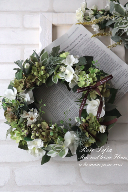 NEW! Green Wreath(S) 20cm ¥5,000+税 (L)30cm¥8,000+税