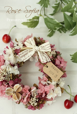 Lovely Wreath 19x19 ¥4,500+税 (¥4,950) ※お好きな色で作れます