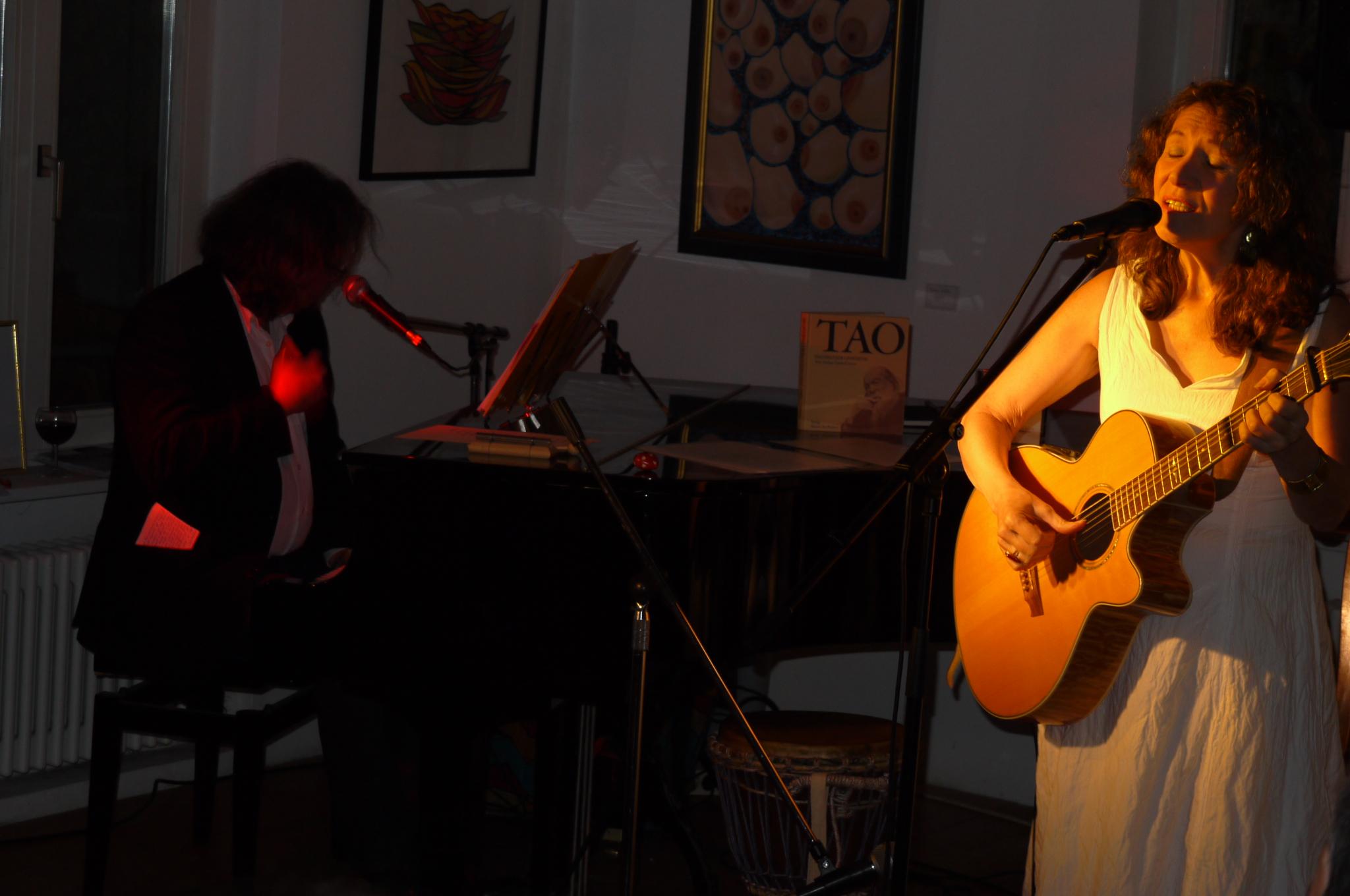 23.10.2011 Duo Herzton (mit Karel Kaiser) im Café Bernstein, Feucht