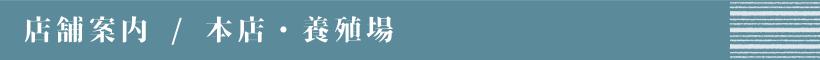 店舗案内/本店・養殖場