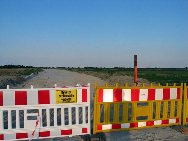Baustopp veranlasst durch OVG Lüneburg