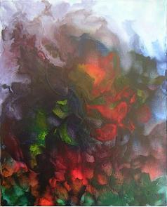 """""""Im Garten 2"""", Keilrahmen  50 x 40, 320 €"""