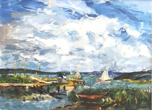 Segelboote am Ammersee (nach Eugen Dekkert)