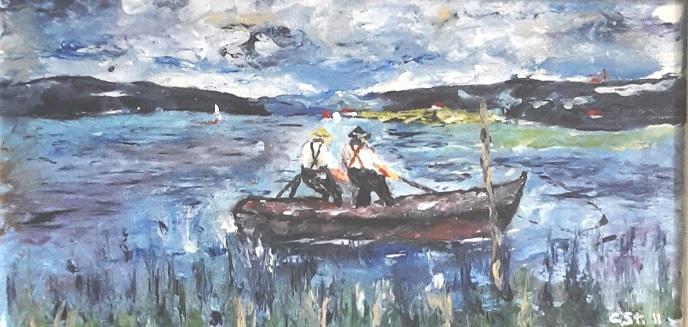 Fischer am See (nach Eugen Dekkert)