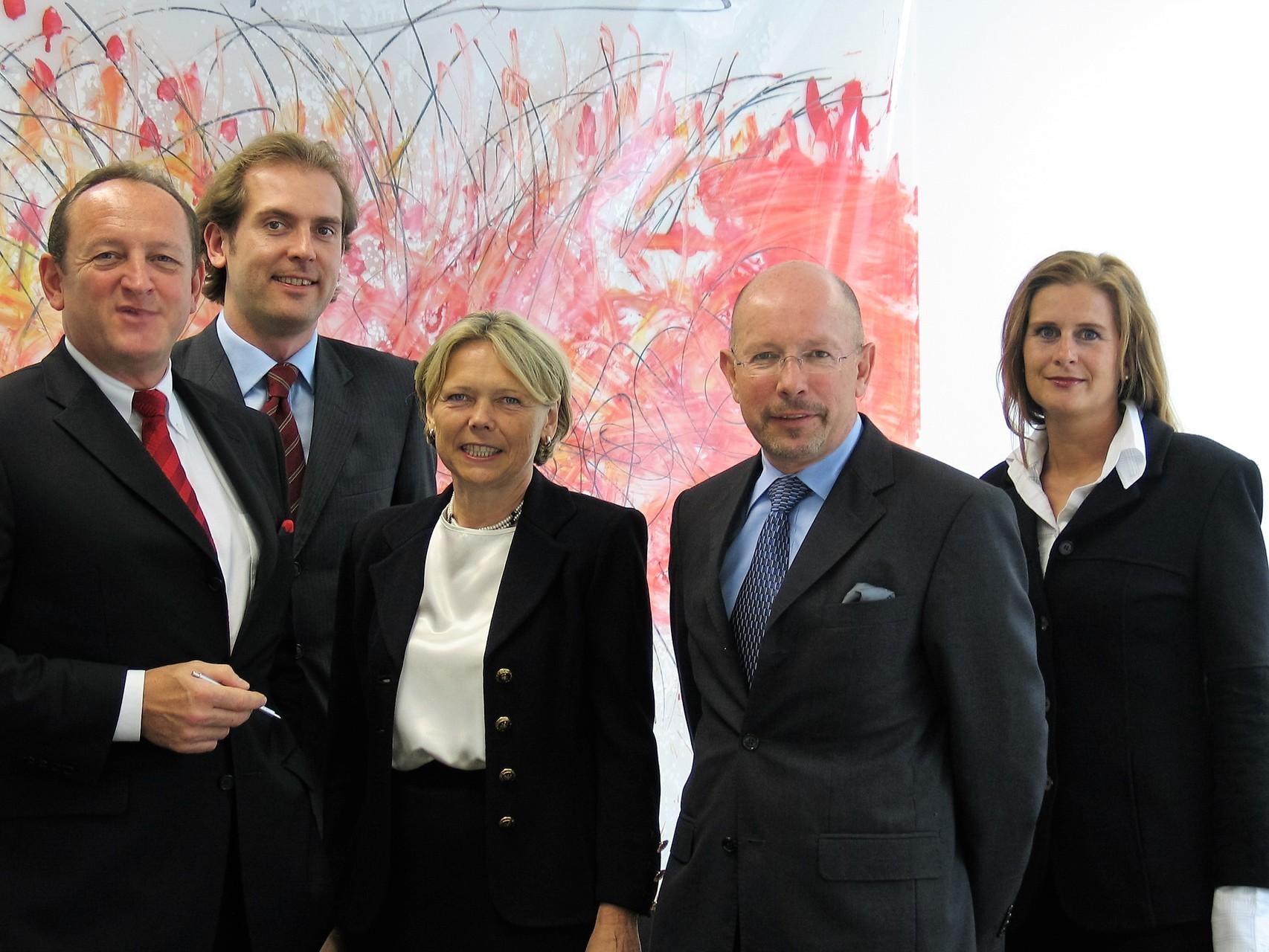 Die Gründer des BRSI e. V. beginnend von links mit dem Initiator Eugen M. Angster † sowie Werner von Anhalt, Gabriele Stahl, Dr. Dieter Körner und Susanne Meixner