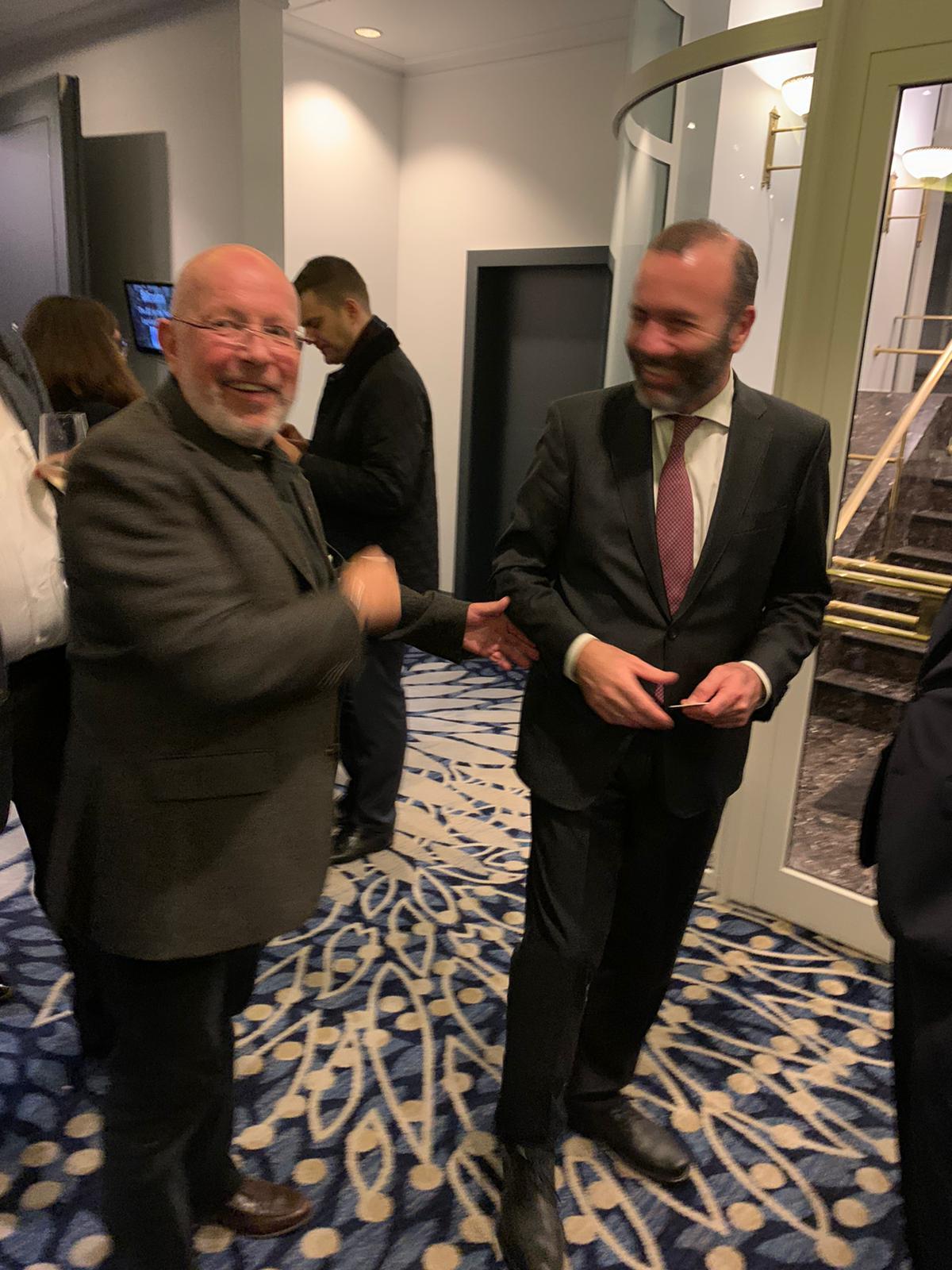 BRSI Vorstand Dr. Dieter Körner mit Manfred Weber Mitglied des Europäischen Parlaments