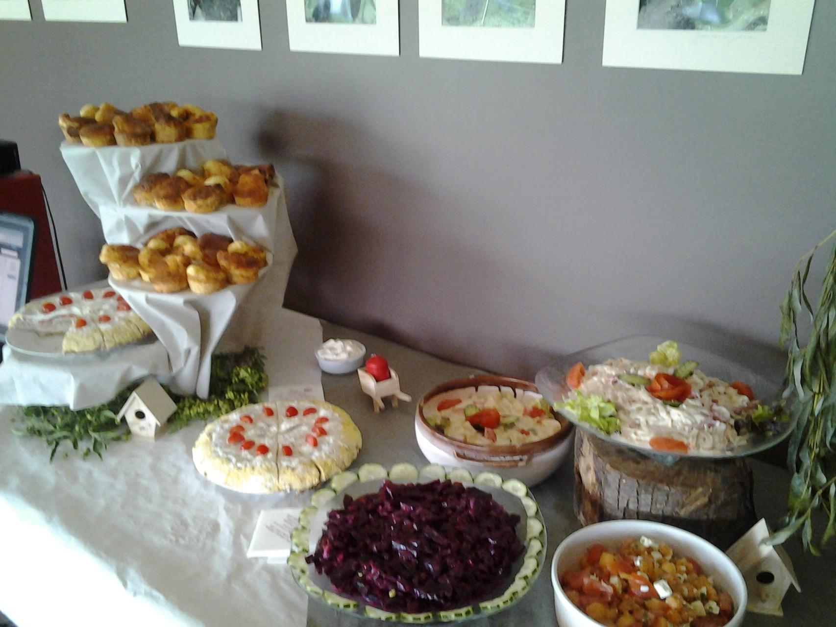 Buffet froid (thème jardin)