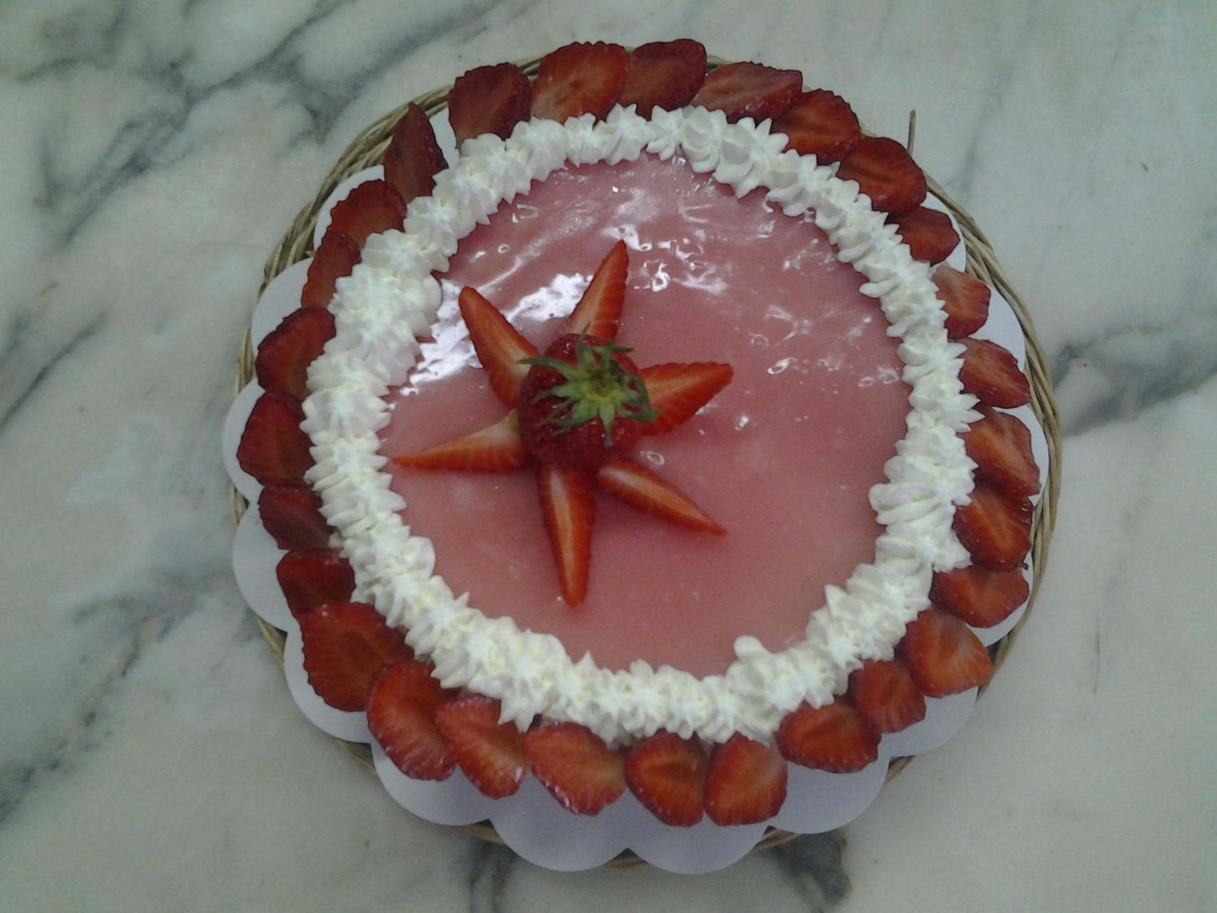 Tarte entremets aux fraises