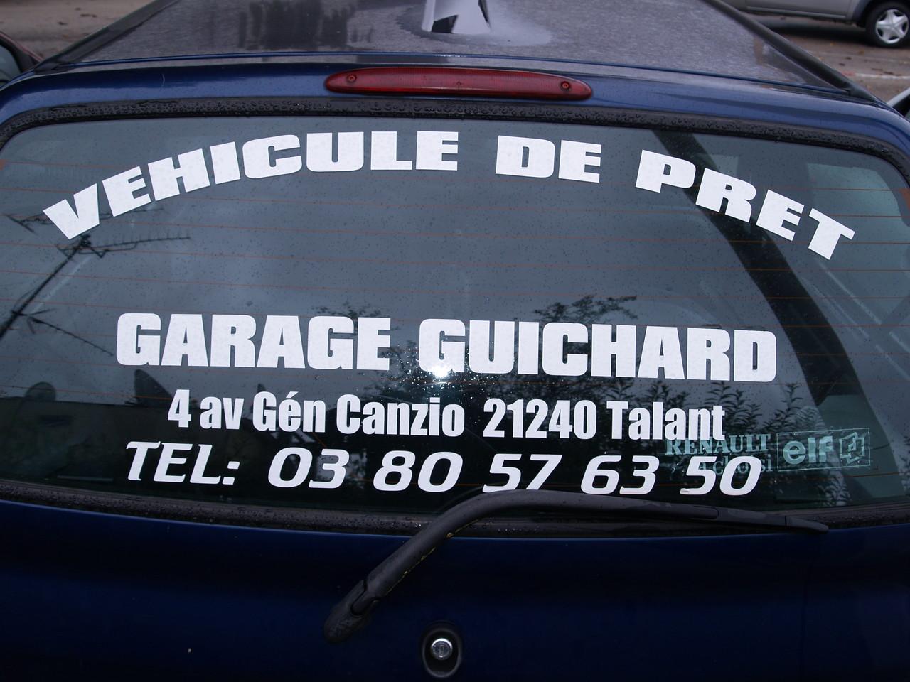Pr t voiture de courtoisie garage guichard talant for Pret voiture garage
