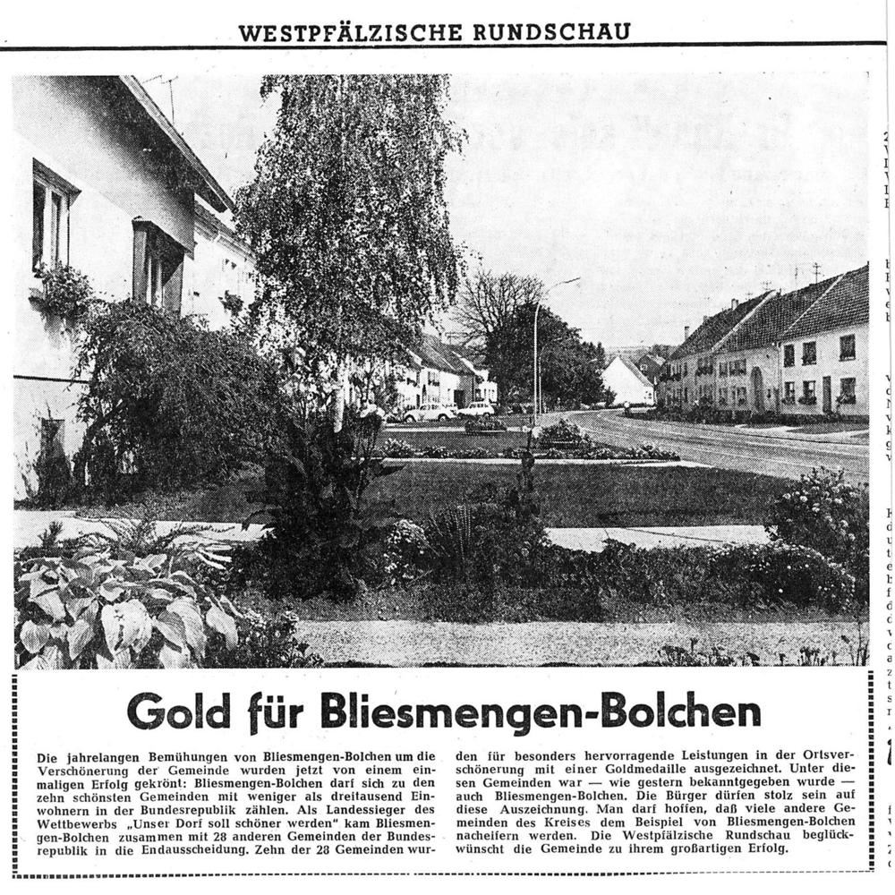"""Artikel aus der """"Westpfälzischen Rundschau"""" vom 16.09.1969"""