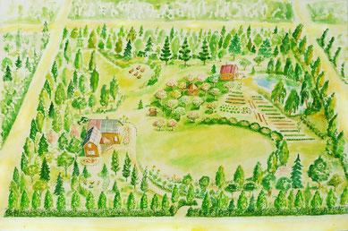Gemälde eines Familienlandsitzes
