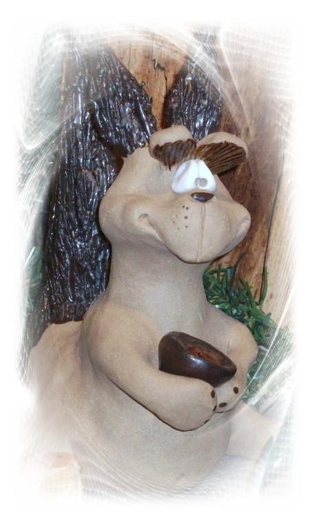 Das Eichhörnchen kommt in den nächsten Tagen zu uns.
